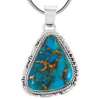 Sterling Silver Pendant Matrix Turquoise P3148-C84