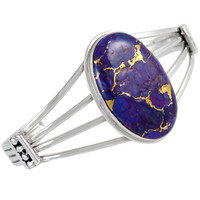 Sterling Silver Bracelet Purple Turquoise B5547-C77