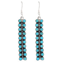 Sterling Silver Earrings Turquoise E1199-C75