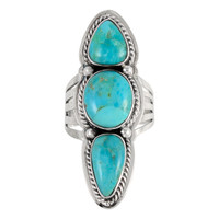 Sterling Silver Ring Turquoise R2330-C75