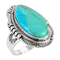Sterling Silver Ring Turquoise R2312-C75