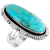 Sterling Silver Ring Turquoise R2314-C75