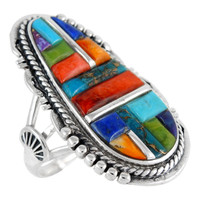 Sterling Silver Ring Multi Gemstone R2318-C51
