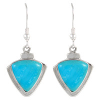 Sterling Silver Earrings Turquoise E1212-C75