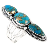 Sterling Silver Ring Matrix Turquoise R2330-C84