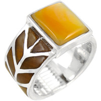 Sterling Silver Ring Mother of Pearl R2372-C99