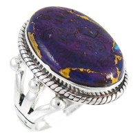 Sterling Silver Ring Purple Turquoise R2381-C77