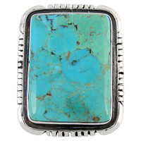 Sterling Silver Ring Turquoise R2382-C75