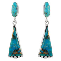 Sterling Silver Earrings Turquoise E1216-C107