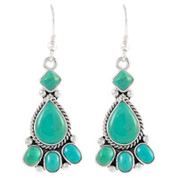 Sterling Silver Earrings Turquoise E1215-C75