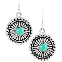 Sterling Silver Earrings Turquoise E1214-C75