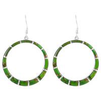Sterling Silver Earrings Green Turquoise E1187-C06