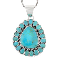 Sterling Silver Pendant Turquoise P3137-C75