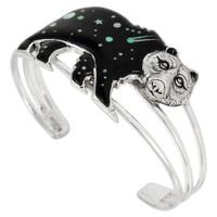 Sterling Silver Bear Bracelet Black & Opal B5548-C27