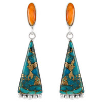 Sterling Silver Earrings Turquoise E1216-C86
