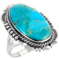 Sterling Silver Ring Turquoise R2315-C75