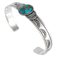 Sterling Silver Bracelet Turquoise B5525-C84