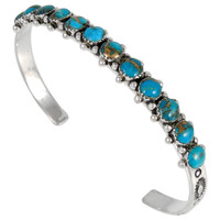 Sterling Silver Bracelet Turquoise B5426-C84