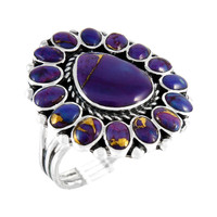 Sterling Silver Ring Purple Turquoise R2407-C77