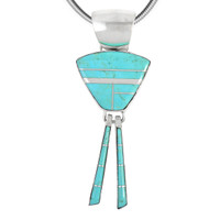 Sterling Silver Pendant Turquoise P3205-C05