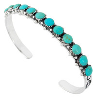Sterling Silver Bracelet Turquoise B5426-C75