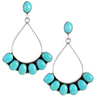 Sterling Silver Earrings Turquoise E1246-C75