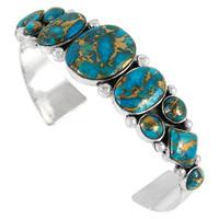 Sterling Silver Bracelet Matrix Turquoise B5491-C84