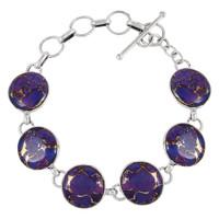 Sterling Silver Link Bracelet Turquoise B5490-C77