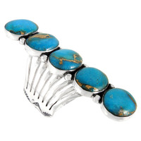 Sterling Silver Ring Matrix Turquoise R2408-C84