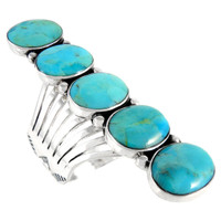 Sterling Silver Ring Turquoise R2408-C75