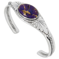 Sterling Silver Bracelet Purple Turquoise B5563-C77