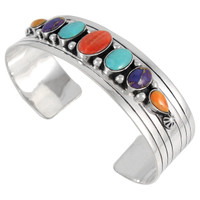 Sterling Silver Bracelet Multi Gemstone B5564-C71