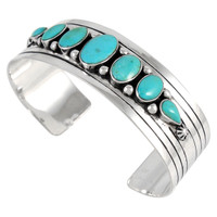 Sterling Silver Bracelet Turquoise B5564-C75