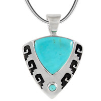 Sterling Silver Pendant Turquoise P3263-C75