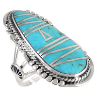 Sterling Silver Ring Turquoise R2318-C05