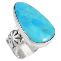 Sterling Silver Ring Turquoise R2423-C75