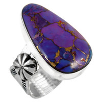 Sterling Silver Ring Purple Turquoise R2423-C77