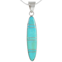 Sterling Silver Pendant Turquoise P3266-C05