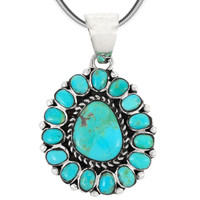 Sterling Silver Pendant Turquoise P3137-SM-C75
