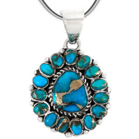 Sterling Silver Pendant Turquoise P3137-SM-C84