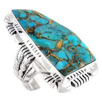 Sterling Silver Ring Matrix Turquoise R2032-C84