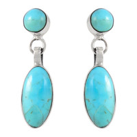 Sterling Silver Earrings Turquoise E1080-C75