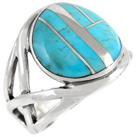 Sterling Silver Ring Turquoise R2431-C05