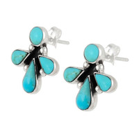 Sterling Silver Earrings Turquoise E1273-C75