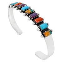 Sterling Silver Bracelet Multi Gemstone B5441-C72