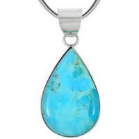 Sterling Silver Pendant Turquoise P3270-C75