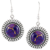 Sterling Silver Earrings Purple Turquoise E1268-C77