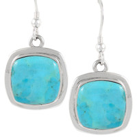 Sterling Silver Earrings Turquoise E1270-C75
