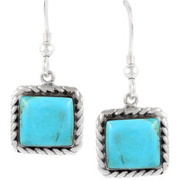 Sterling Silver Earrings Turquoise E1271-C75