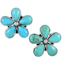 Sterling Silver Earrings Turquoise E1272-C75